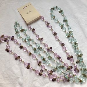 Long Crystal Bead Necklaces